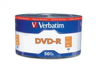 DVD-R VERBATIM 4,7GB BULK X 50 UNID.