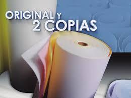 ROLLO PAPEL QUIMICO 75MM X 30MTS ORIG 2 COP X 10 UNID