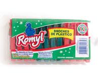 BROCHES PLASTICOS REFORZADOS ROMYL X PAQ 12 UNID