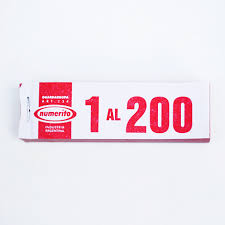 TALONARIO GUARDAROPA 1-200 X UNIDAD