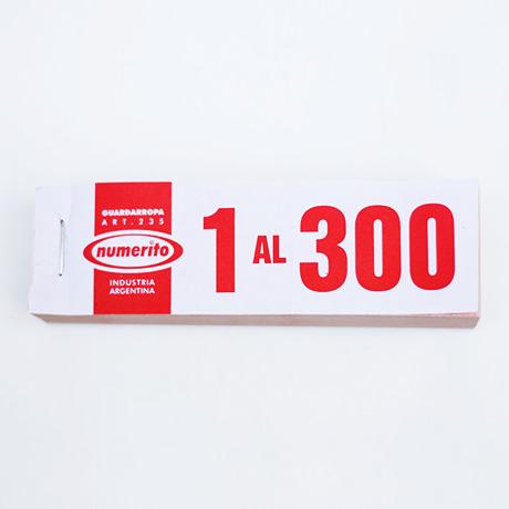 TALONARIO GUARDAROPA 1-300 X UNIDAD